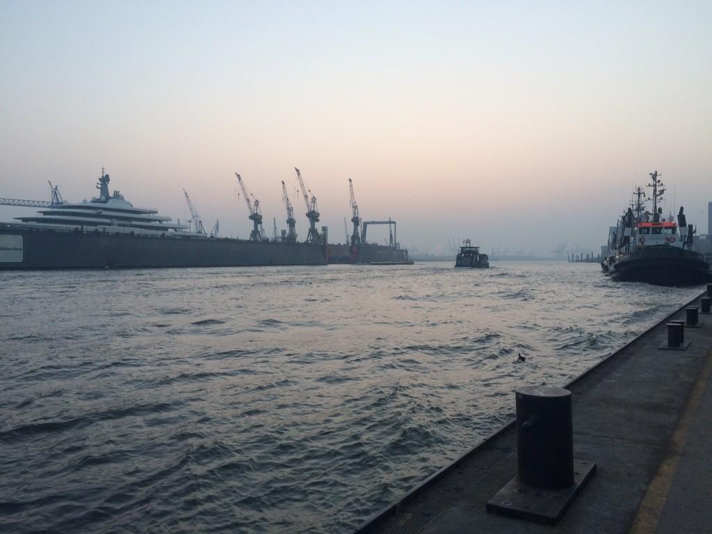 Hamburger Hafen. Copyright: Bianca Garloff